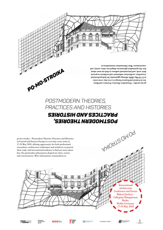 Call for Submissions: po·mo·stroika – Postmodern Theories, Practices and Histories in Central and Eastern Europe, PoMoStroika Poster