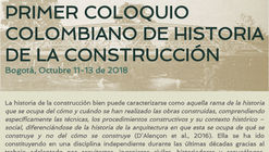 Primer coloquio colombiano de historia de la construcción