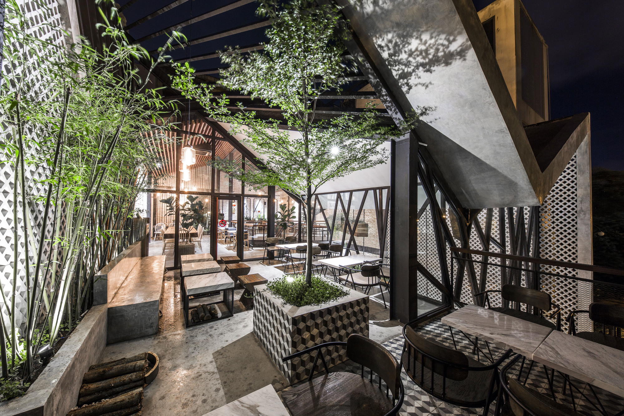 An Garden Cafe Le House Archdaily