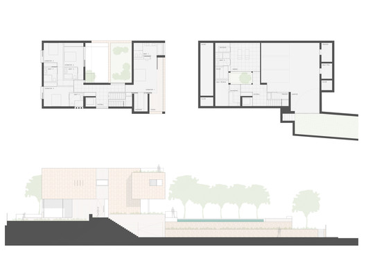 Upper Floor Plans and Elevation