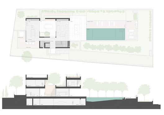 Ground Floor Plan and Section