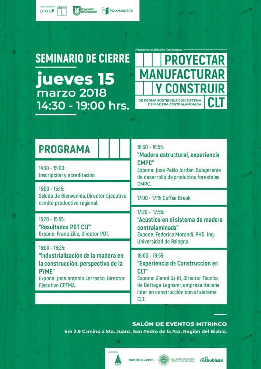 Seminario de cierre: Proyectar, manufacturar y construir CLT