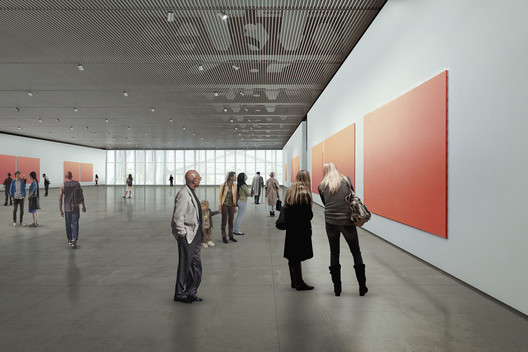 Rendering of the Gallery on Level 4, courtesy of Diller Scofidio + Renfro in collaboration with Rockwell Group