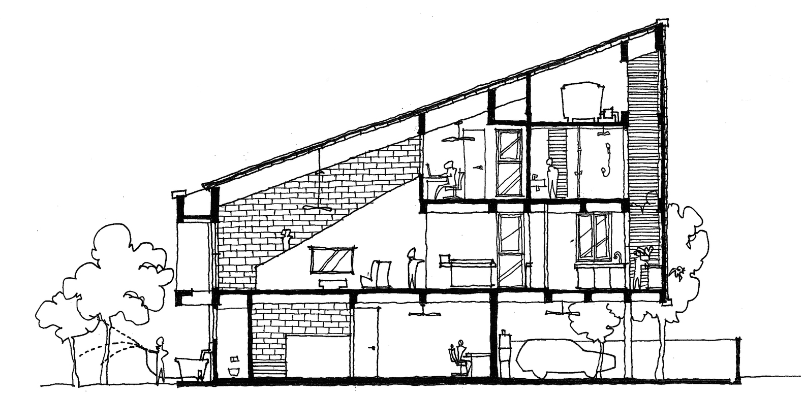 38Mews House,Sketch Section