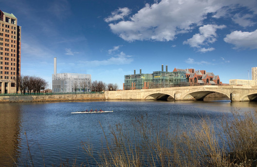 View across the river. Image Courtesy of Leers Weinzapfel Associates