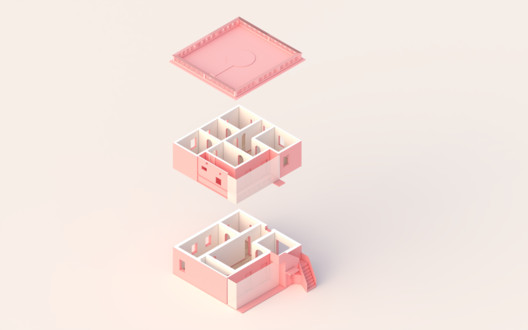 Her house axonometric
