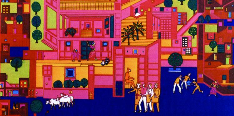 Desenhos de B.V. Doshi revelam a identidade de seu trabalho, Cortesia de Prêmio Pritzker de Arquitetura