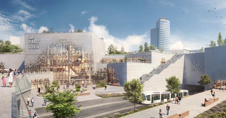 Comienza la construcción del rediseño de MVRDV para el centro comercial urbano más grande de Europa, © Kréaction