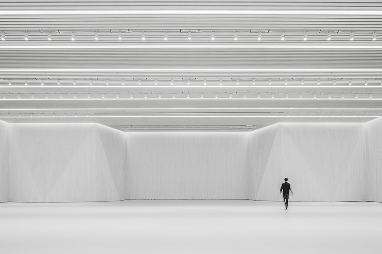 Renovation of the Multi-Function Hall in Central Academy of Fine Arts / Architecture School of CAFA, Interior Hall. Image © Weiqi Jin