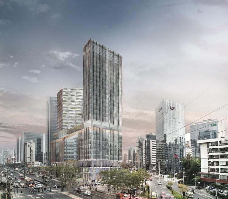 El proyecto de +Arquitectos y Sauerbruch Hutton que transformará la esquina de Apoquindo con Manquehue en Santiago, Cortesía de INDESA