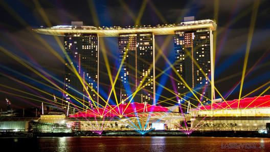 Grand opening of Marina Bay Sands, Singapore, 2011. Design: Laservision Mega Media. Image © Laservision Mega Media