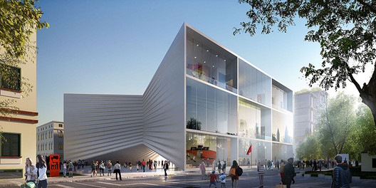 BIG Unveils Bow-Shaped Design for National Theatre of Albania