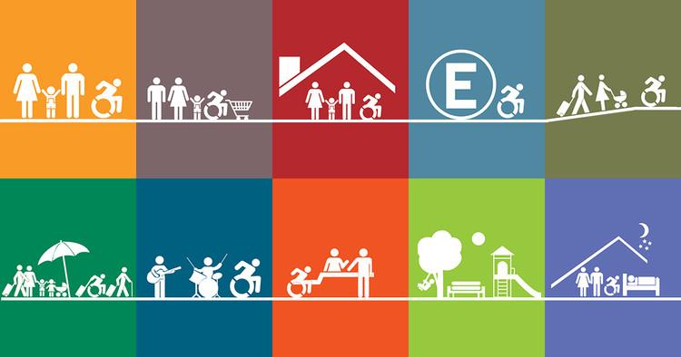 Diseñemos mejores ciudades con estas 14 fichas normativas de diseño accesible y universal, Cortesía de Fundación Ciudad Accesible