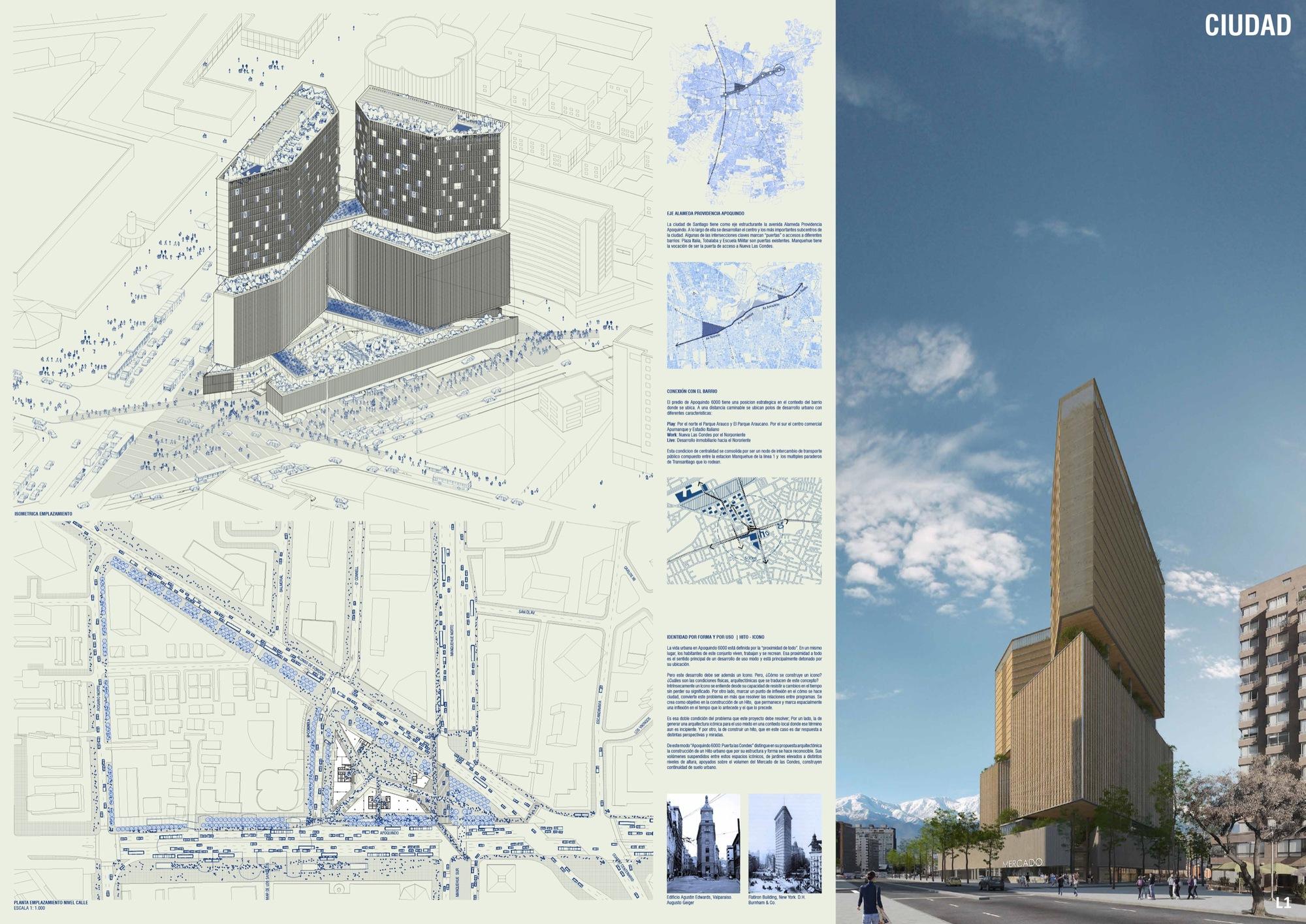 Mobil Arquitectos + ARUP, finalistas del concurso Puerta Las Condes ...