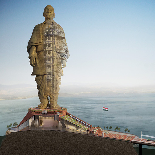 Construction of the Tallest Statue in the World Continues in India