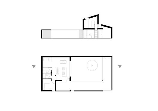 Ground Floor Plan + Section