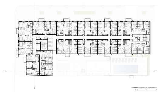 Third to Nineth Floor Plan