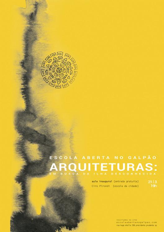 Escola aberta no galpão  - ARQUITETURAS : em busca da Ilha desconhecida. , Aula Aberta - apresentação do programa Escola Aberta no Galpão.  arte Zenilda Pasquini  Luan Fernandes.