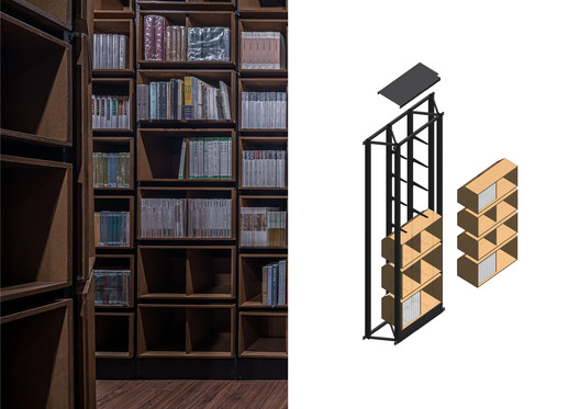 The details of bookcase