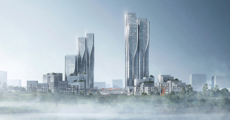 Aedas' Latest Mixed-Use Development Creates a City Inspired by 'The Cloud', Courtesy of Aedas