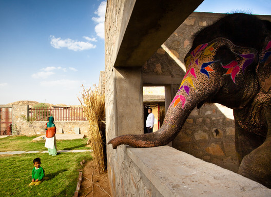 Housing for Mahouts and their Elephants, by RMA Architects, who Frampton names as a practice doing exceptional work in Asia. Image © Carlos Chen