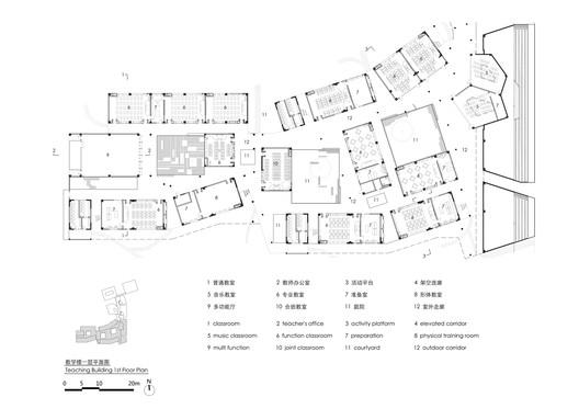Teaching zone first floor plan