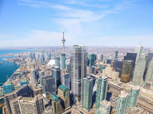 The scheme is set to be a dominant fixture on the Toronto skyline. Image Courtesy of RSHP