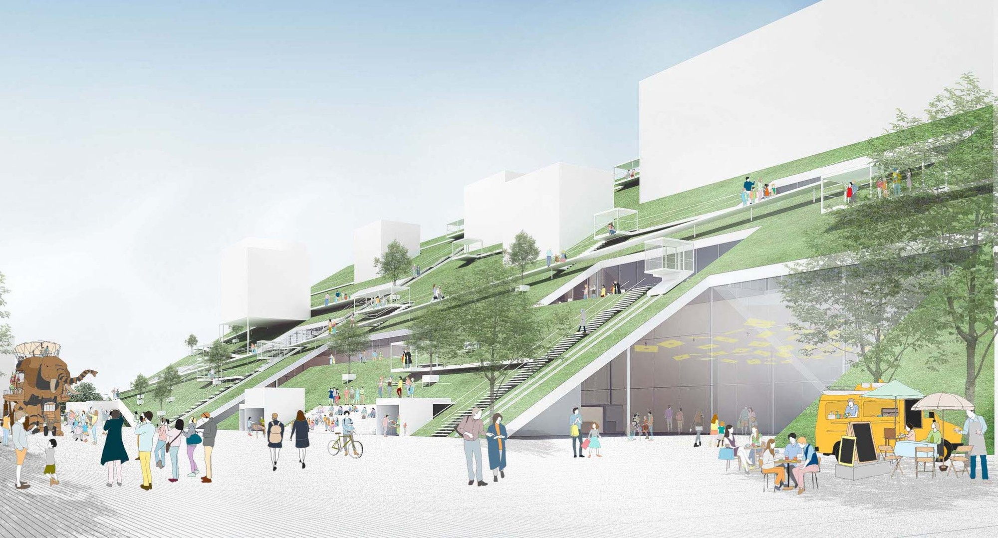 Riken yamamoto 39 s hill wins competition for taiwan art museum archdaily for 400 garden city plaza
