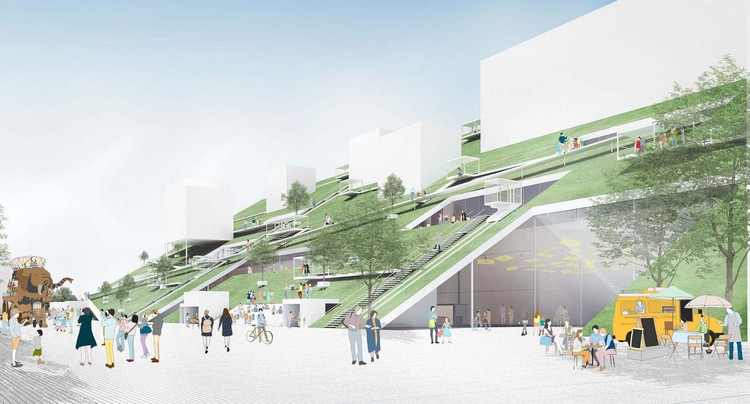 "Riken Yamamoto's ""Hill"" Wins Competition for Taiwan Art Museum, Courtesy of Riken Yamamoto & Field Shop"