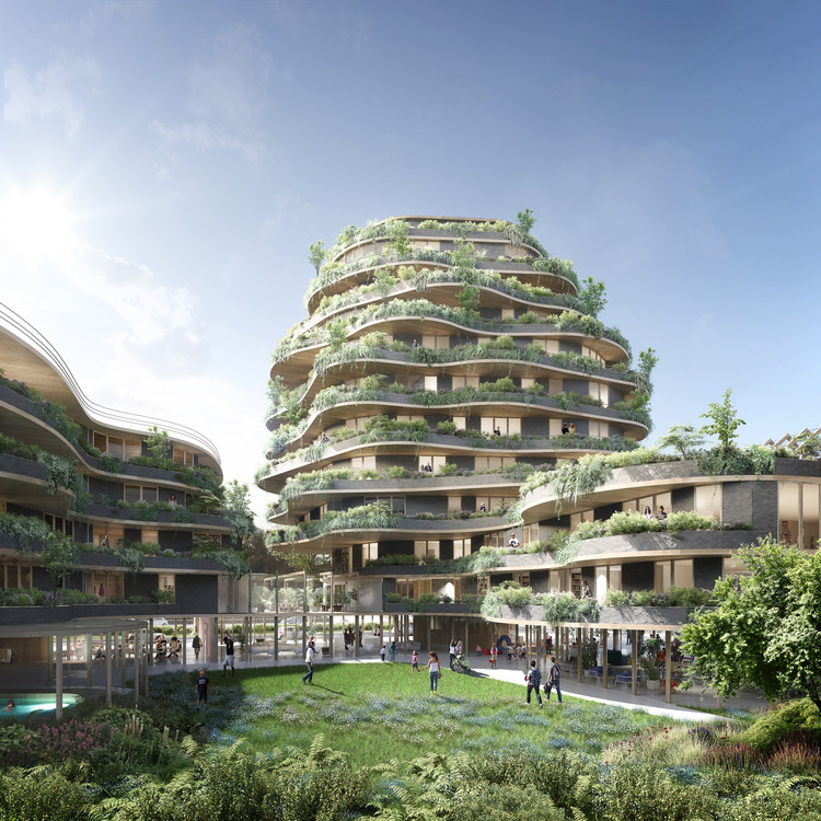 Inter-Generational Mixed Use Project Wins Imagine Angers Design Competition , © AIRSTUDIO