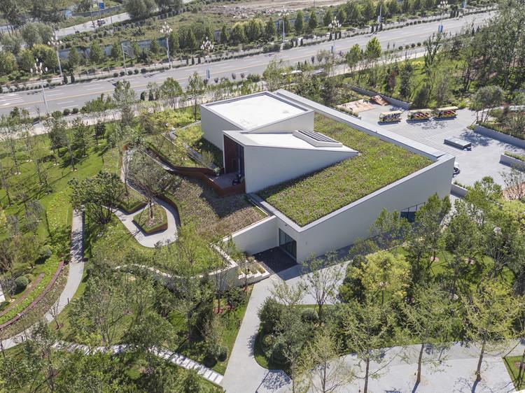 Pavilhão Passivo em Longfor Sundar / SUP Atelier, Vista aérea noroeste. Image © Zhi Xia