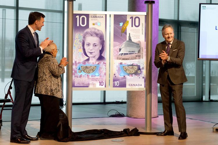 Ativista negra e Museu dos Direitos Humanos são celebrados na nova nota de 10 dólares canadenses, © Bank of Canada