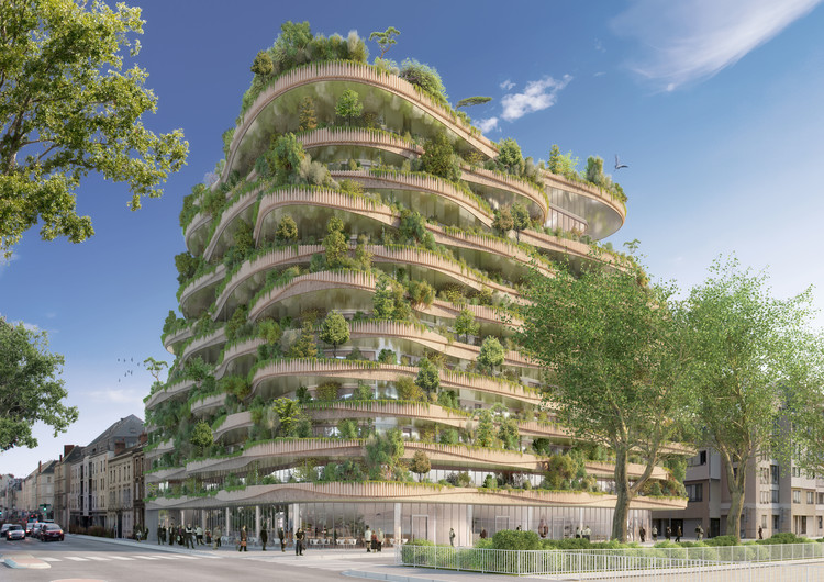 Vincent Callebaut Architectures Wins Public Vote for Millennial Vertical Forest Competition, Courtesy of Vincent Callebaut Architectures