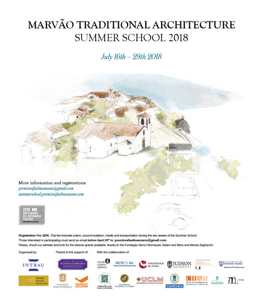 Marvão Traditional Architecture Summer School 2018
