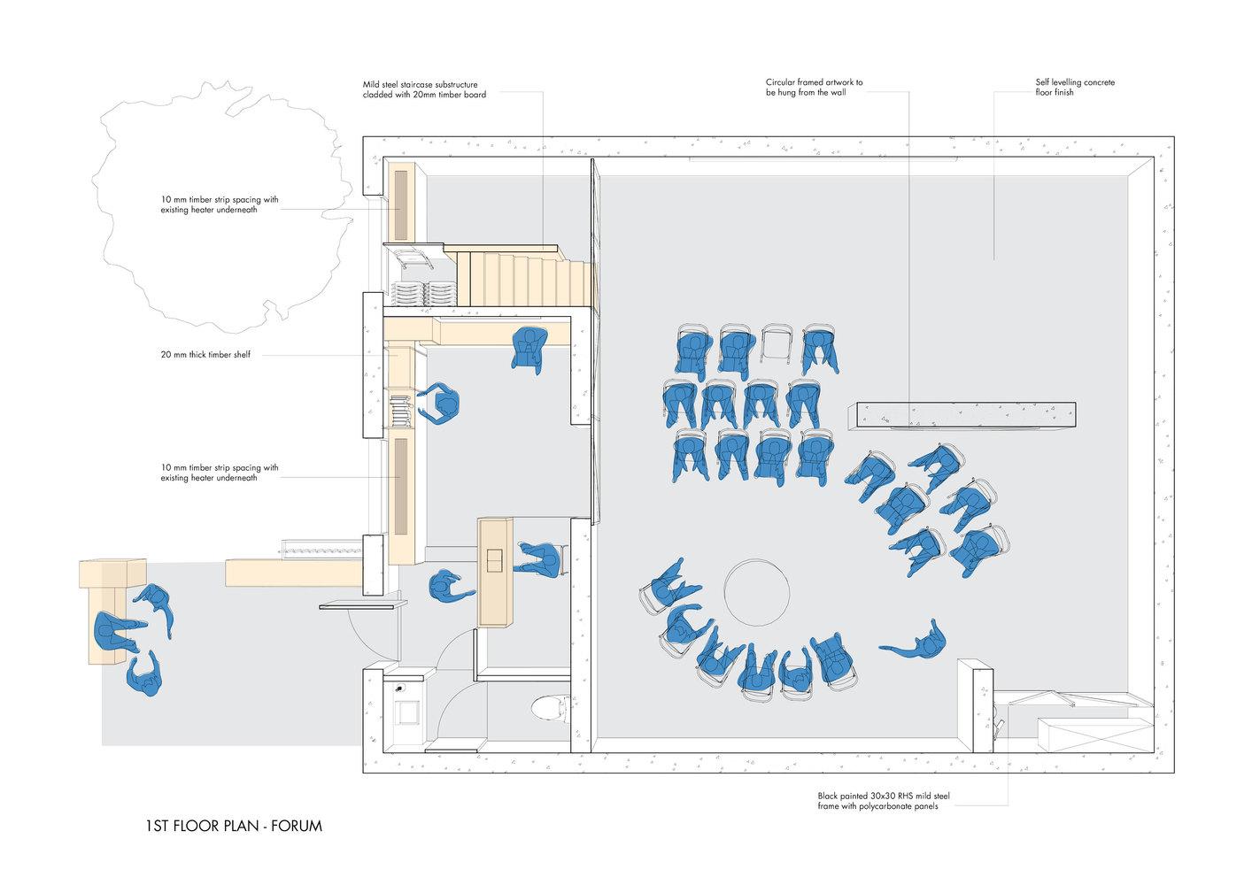 BRIC Art Space,1st Floor Plan   Forum Setup