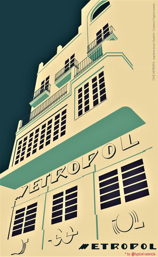 Valencia lucha por salvar el cine Metropol, Cine Metropol diseñado por del arquitecto Javier Goerlich. Image © Antonio Marín Segovia [Flickr], bajo licencia CC BY 2.0