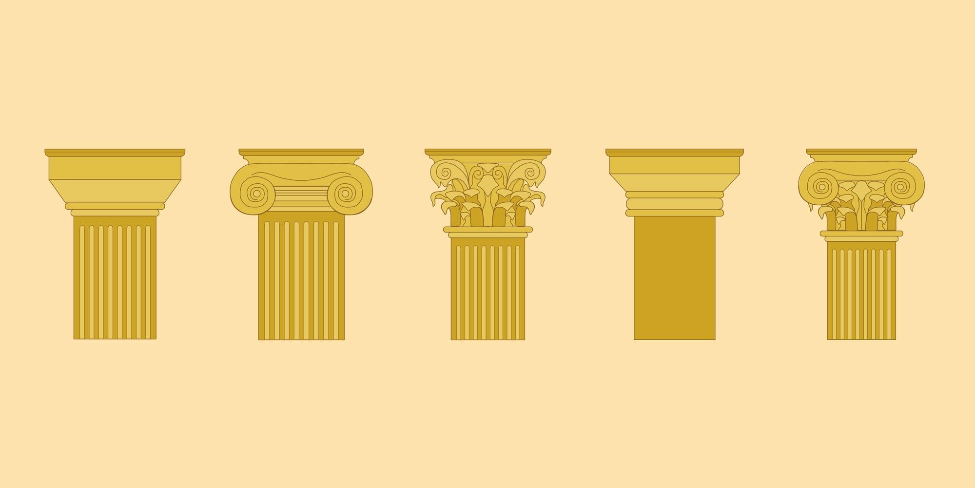 Capitéis da Antiguidade Clássica: Entenda a diferença entre as ...