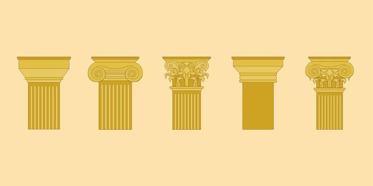 5 Capiteles de la antigüedad clásica y sus diferencias, © Matheus Pereira