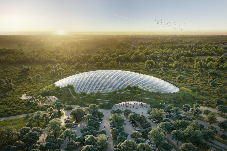 Coldefy & Associates Design World's Largest Single-Domed Tropical Greenhouse, © Octav Tirziu Atelier