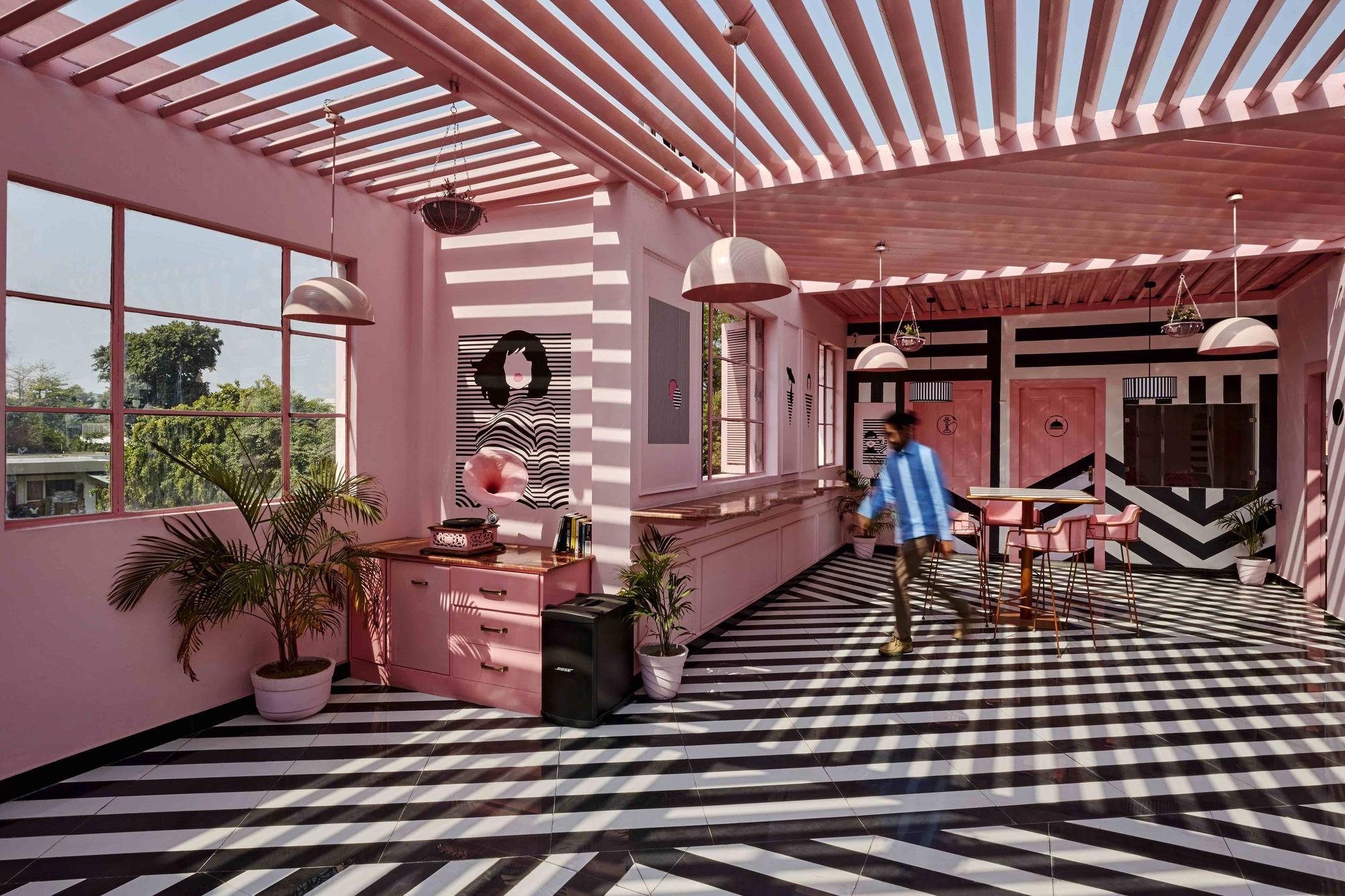 The Pink Zebra Restaurant Renesa Architecture Design Interiors Studio Archdaily