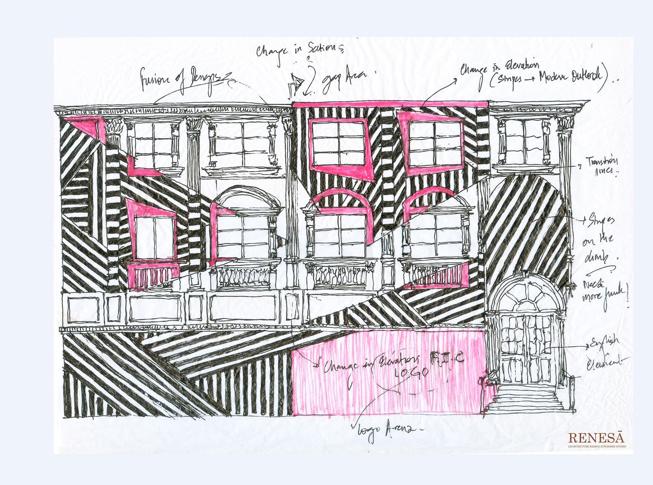 architecture design. Contemporary Architecture The Pink ZebraSketch For Architecture Design