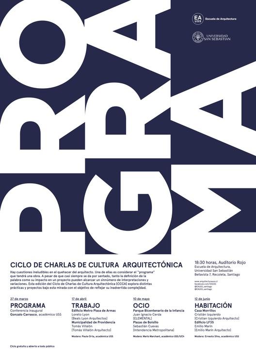 Ciclo de charlas de Cultura Arquitectónica USS | Otoño 2018, Escuela de Arquitectura, Universidad San Sebastián [EA USS]