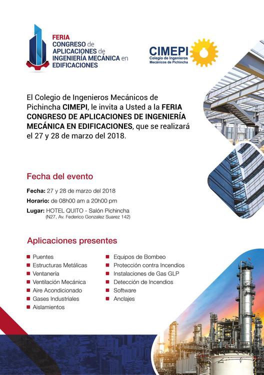 Primera Feria Congreso de Aplicaciones de Ingeniería Mecánica en Edificaciones