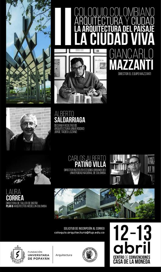 II Coloquio colombiano de arquitectura y ciudad, Fundación Universitaria de Popayan