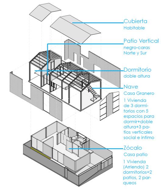 Axonométrica detallada