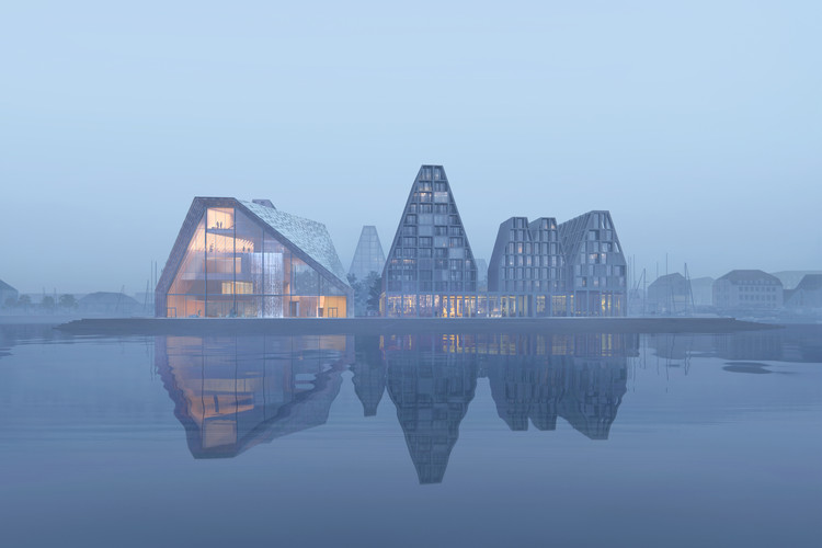 "COBE & BIG Reveal Images of ""Waterfall"" Proposal for Copenhagen Aquatic Center, Courtesy of COBE / BIG"
