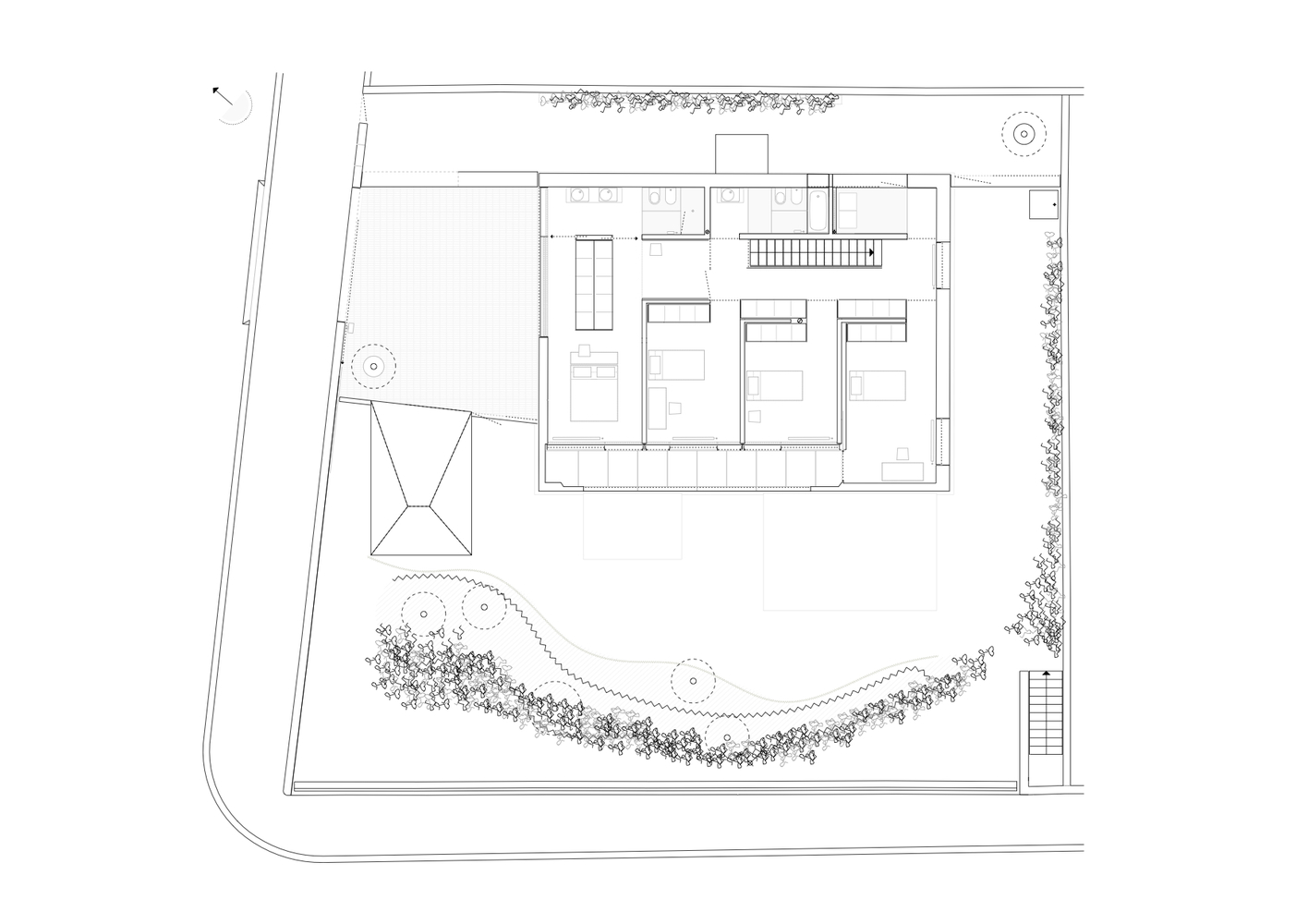 Gallery of house in oporto serralves joo vieira de campos 28 house in oporto serralvesfirst floor plan ccuart Gallery