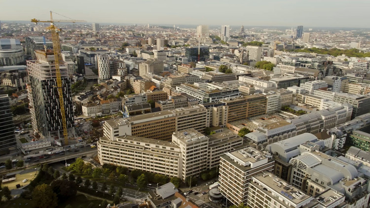 European Commission Launches Loi 130 Architectural Competition, Picture of the Loi 130 site; copy right European Commission