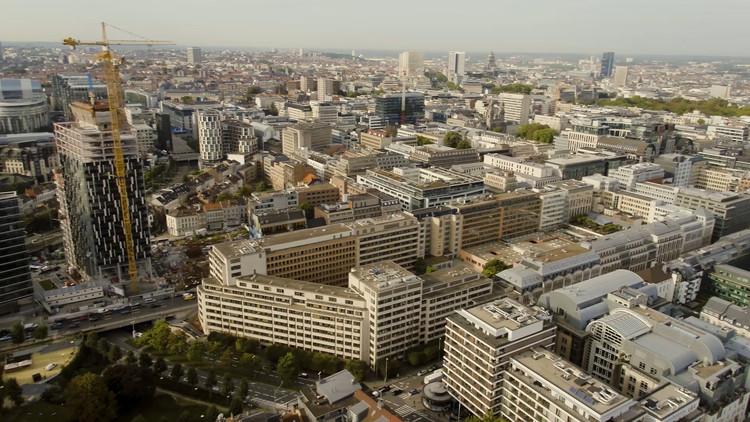 Comissão Europeia lança concurso Loi 130 para projeto em Bruxelas, Terreno na Rue de la Loi 130; copy right European Commission