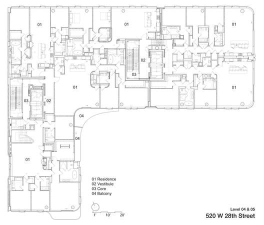 Fourth + Fifth Floor plan